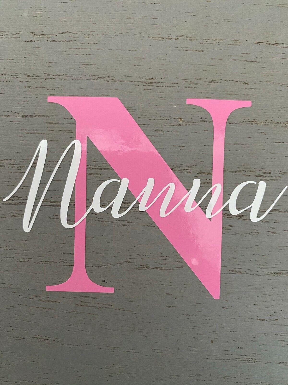 Vinyl sticker label personalised name & initial yankee candle mug glass Mum Nan 2