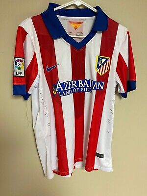 Atletico Madrid 2014 Home football shirt jersey Nike size L #12 Moy Replica image