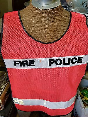 New Sealed Fd Fire Police Orange Reflective Safety Traffic Vest