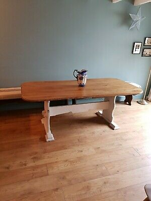 6.5ft Oak Dining Table/ used /French / farmhouse
