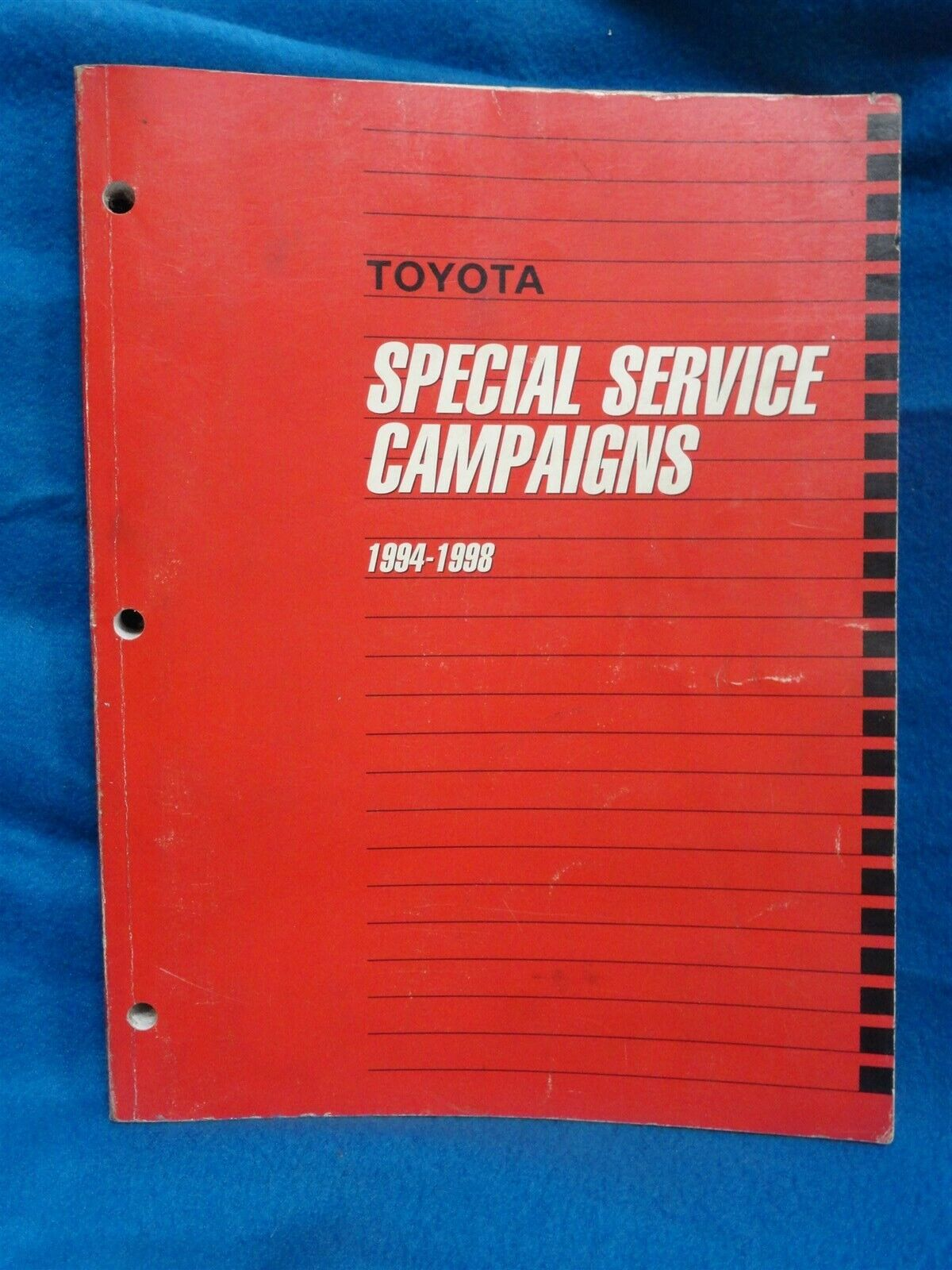 1994-1998 ~ Toyota ALL MODELS ~ FACTORY Special Service CAMPAIGNS ~ OEM ORIGINAL