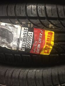 215/45r18 Pirelli pzero Nero all season tires SALE!
