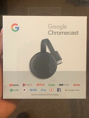Google Chromecast Streaming Media Player (3nd Gen) ✔ BRAND NEW ✔