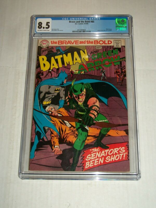 DC Comics BRAVE AND THE BOLD #85 CGC 8.5 Green Arrow Dons New Costume