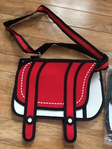 NEW 3D Cartoon  shoulder laptop bag - Red or Green