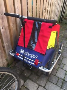 Chariot chauffeur double stroller with bike attachment