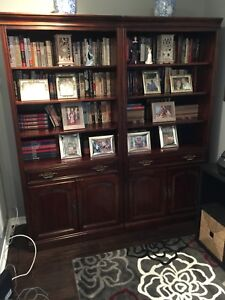 Solid cherry wood book shelves