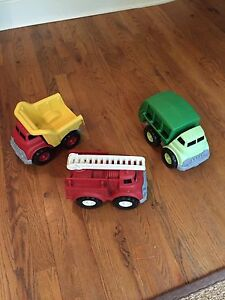 Green Toys - Dump Truck, Fire Truck and Recycle Truck