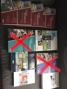 Plein de livres de soins infirmier