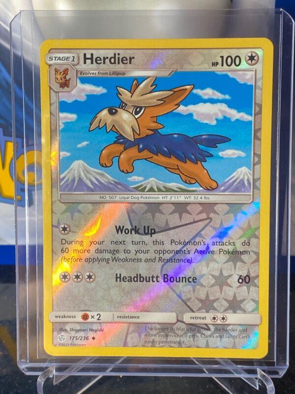 Uncommon Pokemon Card - NM 2019 Herdier 175//236 Cosmic Eclipse Set