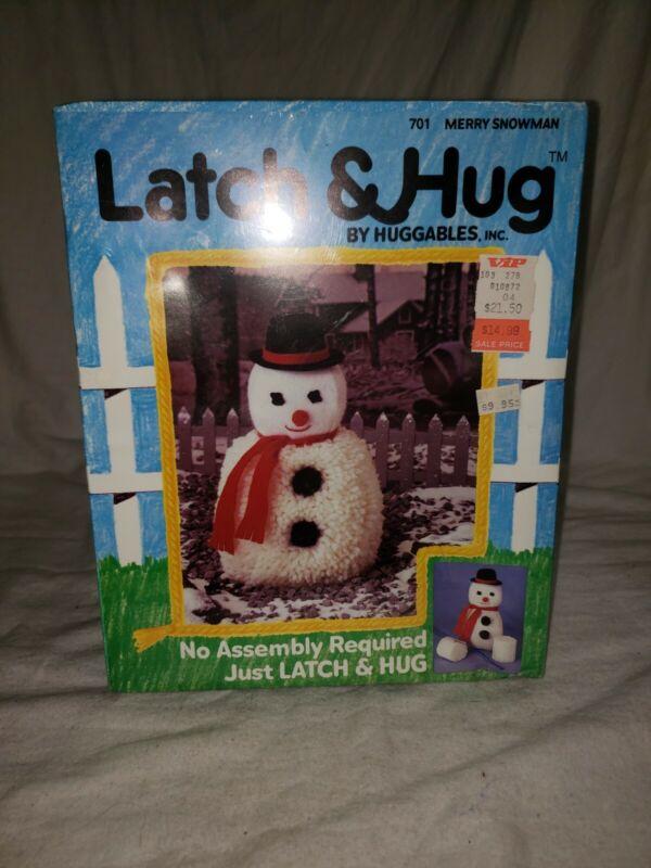 VINTAGE LATCH & HUG BY HUGGABLES MERRY SNOWMAN #701 NEW SEALED LATCH HOOK 820