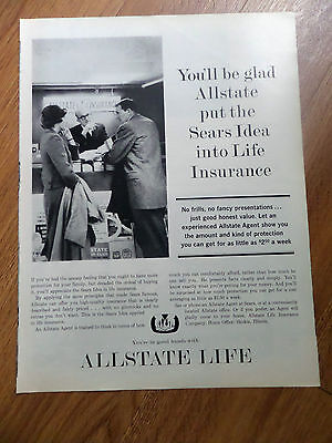 1962 Allstate Life Insurance Ad Youll Be Glad Allstate Put The Sears Idea Into