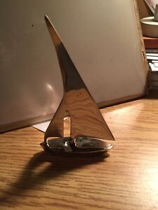 Silver plated, sail boat paper weight/decoration