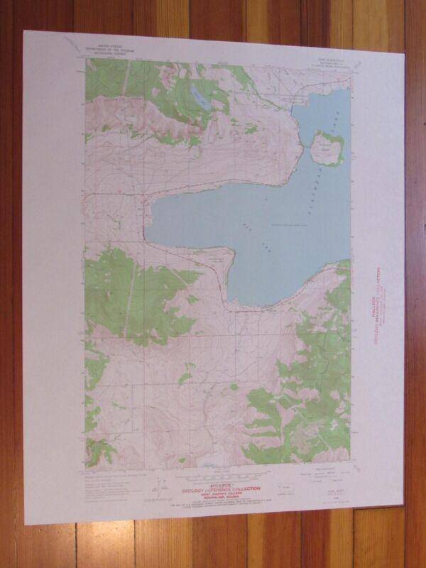 Elmo Montana 1966 Original Vintage USGS Topo Map