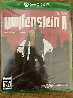 NEW XBox One Wolfenstein II 2 The New Colossus SEALED Complete Canada Microsoft