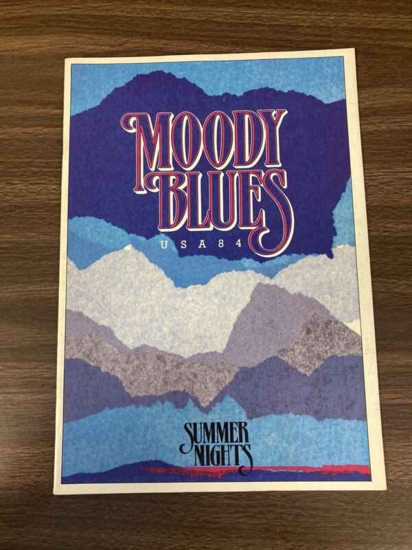 Moody Blues concert PROGRAM from USA Summer Nights Tour in 1984