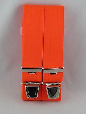 Hosenträger neon-orange 120 cm - 140 cm x 35 mm H-Form eigene Herstellung