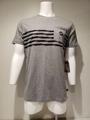 NWT Men's Howler Brothers Classic Pocket T-Shirt Voltage Road Print Grey Size L