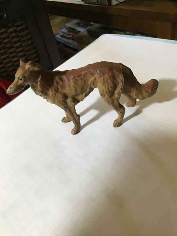 Vintage Germany Hound Dog Metal Figurine Antique Toy