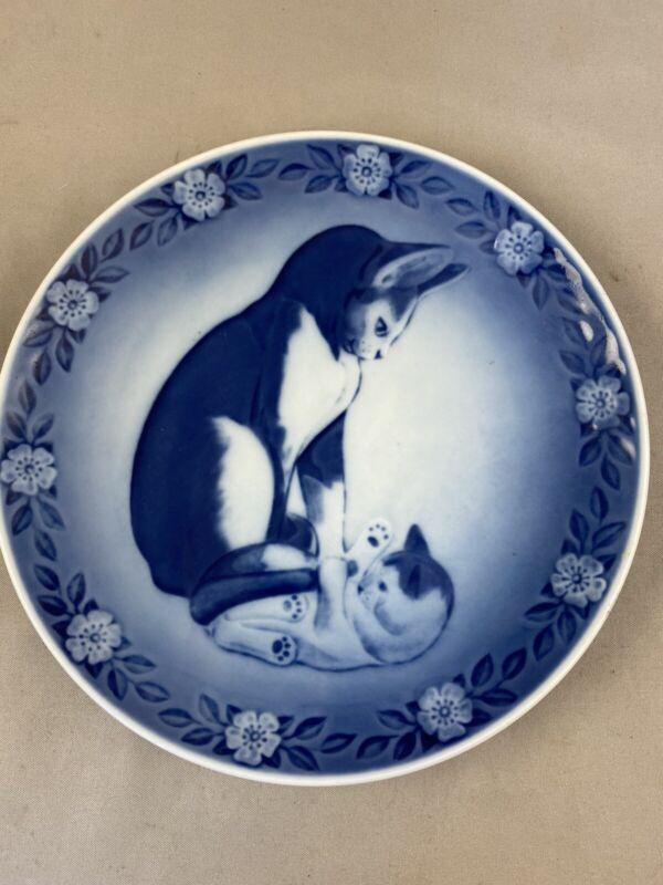 1983 Royal Copenhagen Cat And Kitten Plate Ivan Vestergaard Mother''s Day