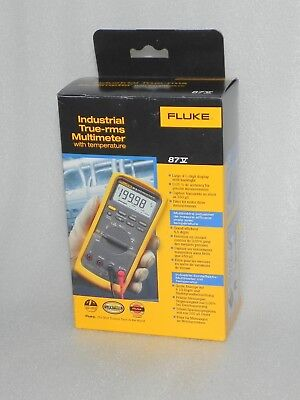 Fluke 87v Industrial True-rms Multimeter With Temperature New Free Shipping