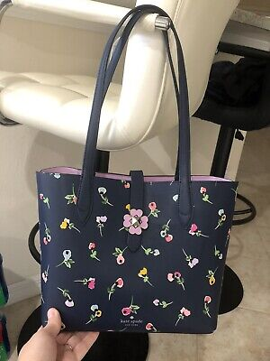 🌹NWT KATE SPADE Kaci Wildflower Floral Ditsy Small Tote Handbag Blue Multi New