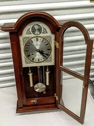 Vintage  Waltham Tempus Fugit 31-Day Chiming Wall Clock 28 Tall