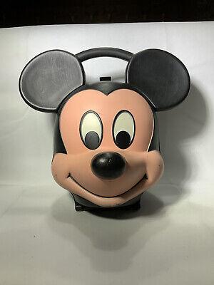 Vintage Mickey Mouse Head Lunch Box Walt Disney Aladdin