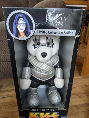 1998 Kiss Ace Frehley Collector Bear New In Box  - Spencer Gifts
