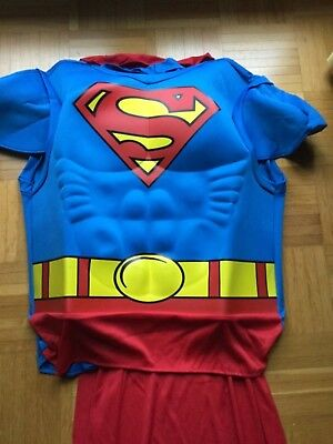 Muscle Chest Shirt Superman Gr. M  - Superman Kostüm Für Erwachsene