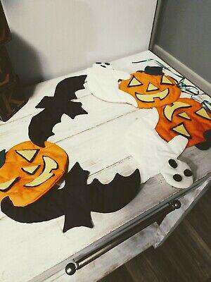 Vintage Handmade Halloween Garland Ghost Pumpkins And Bats