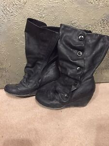 Women's wedge boots