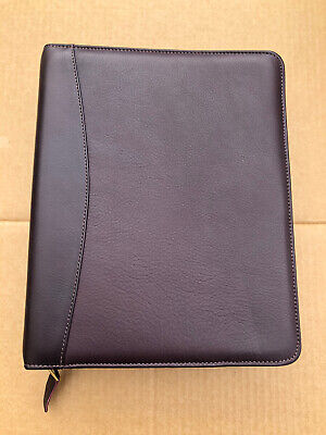 Franklin Covey Quest 7 Ring Binder Planner Burgundy Full Grain Nappa Leather