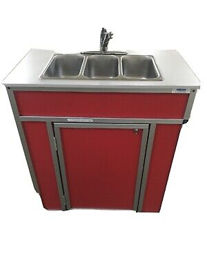 3 Compartment Indooroutdoor Portable Sink For Washing Handscleaning Utensil