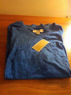 Womens SzM Michael Kors Grecian Blue Fashion Basics T Shirt