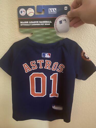 Pets First MLB Houston Astros Dog Puppy Jersey, Size Medium