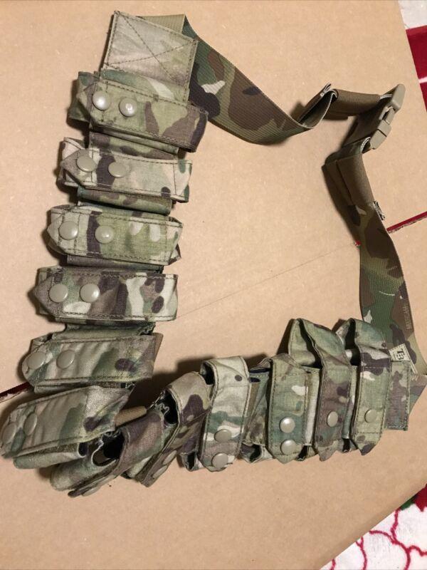Genuine US Military OCP Multicam T3 40 MM/ M203 Round Belt Bandoleer New