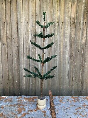 "ANTIQUE VINTAGE 36"" GOOSE FEATHER CHRISTMAS TREE EARLY GERMAN"