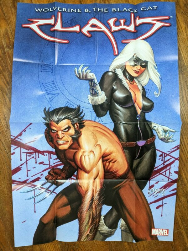Claws Wolverine & the Black Cat Marvel Comic Dealer Poster 2011 24x36 New