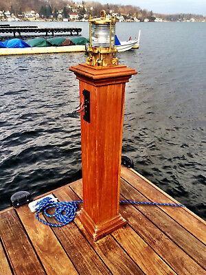 Nautical Bronze Piling post Nautical Dock Light - marine ship dock lights