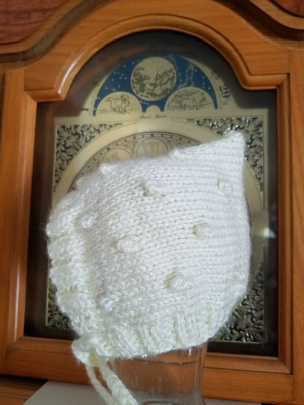 Michigan Made Hand Knit Baby Bonnets - Choose Your color/design/size!
