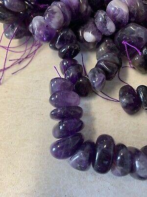 Purple Amethyst Large 8mm - 16mm Polished Gemstone Chip Nugget Beads 16