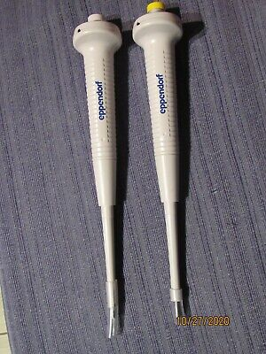 Eppendorf Reference Single Channel Pipettes Lot Of 2 0.5-10ul And 10-100ul