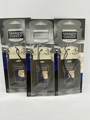 "Yankee Candle MIDSUMMER'S NIGHT CAR JAR Air Freshener Lot of ""3"""