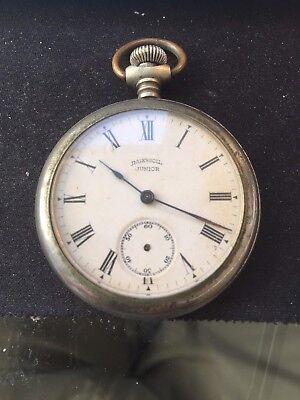 Vintage Seldom Seen 1901 - 1007 Ingersoll Junior Pocket Watch Roman Numerals
