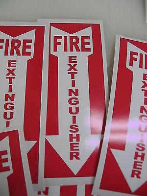 5 Arrow Fire Extinguisher Sticker Decals Inspection Hose Alarm Smoke Fdc Osha