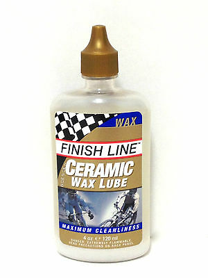 Finish Line Ceramic Wax Lube Bike Bicycle Chain Lube 4Oz