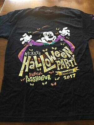 NWT Disney Parks Disneyland Annual Passholder Mickey Halloween Party 2017 Shirt (Mickey Mouse Halloween Party Disneyland)