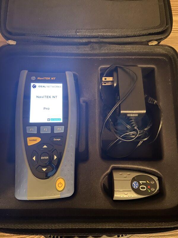 Ideal NaviTEK NT Pro: Advanced Copper/Fiber Network Diagnostic Tester-Clean!!