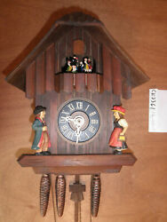 Cuckoo Clock German made SEE VIDEO Black Forest Chalet 1 Day CK2361